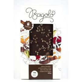 Tamna čokolada s prženim kakao zrnima