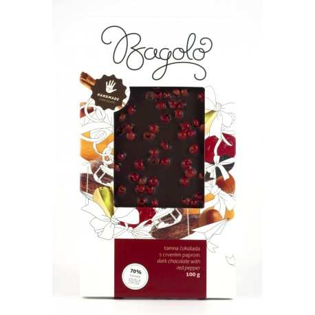 Tamna čokolada s crvenim paprom